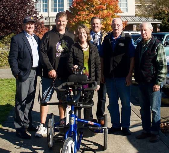 Third bike presented to Sequim School District for in-class use